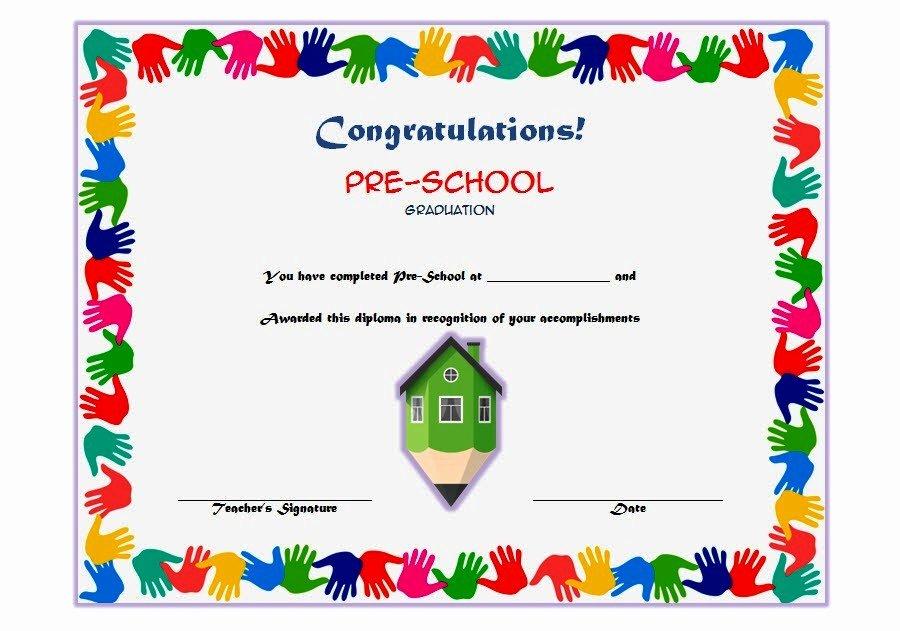 Preschool Graduation Certificate Template Ss – the Best