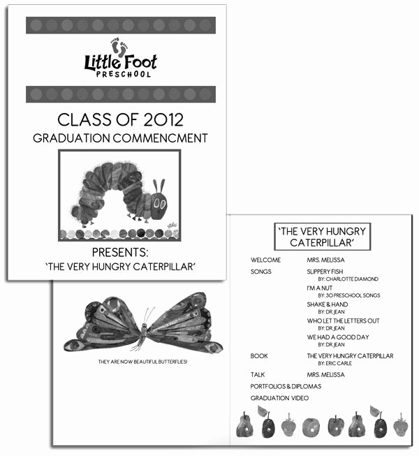 Preschool Graduation Program Sample Google Search