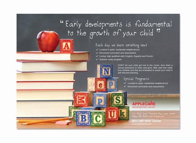 Preschool Kids & Day Care Flyer Template