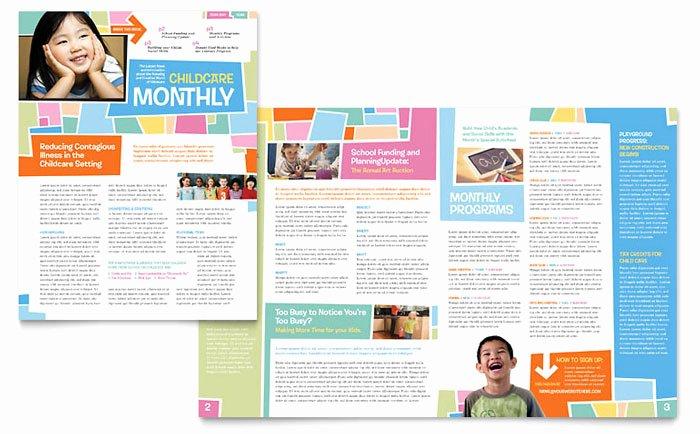 Preschool Kids & Day Care Newsletter Template Design