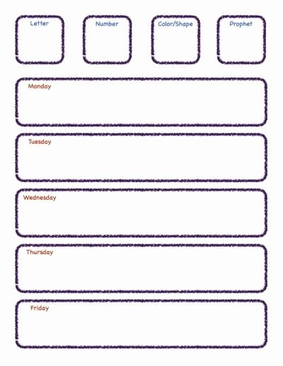 Preschool Lesson Plan Template Amy Pinterest