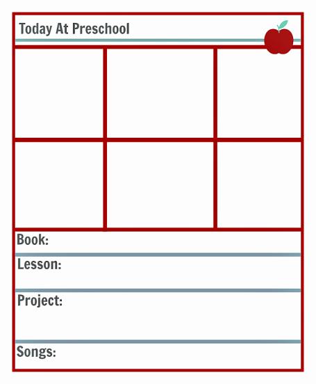 Preschool Lesson Planning Template Free Printables No