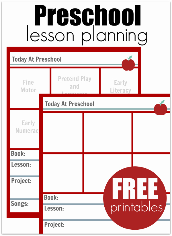 preschool lesson planning template