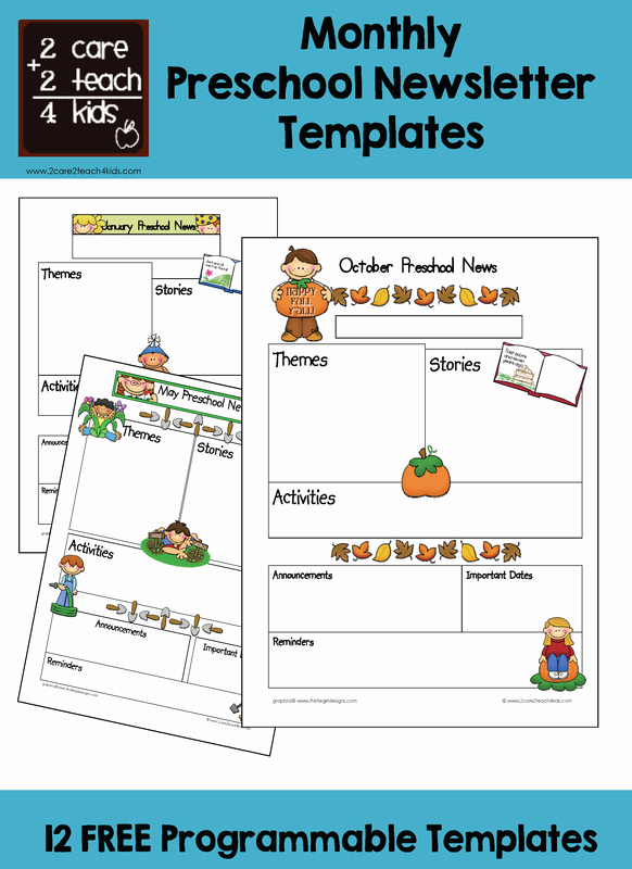 Preschool Newsletters Free Printable Templates