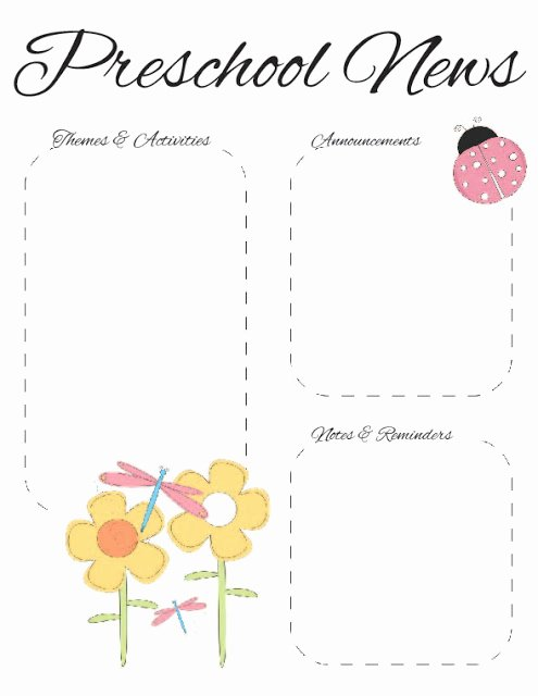 Preschool Spring Newsletter Template 2
