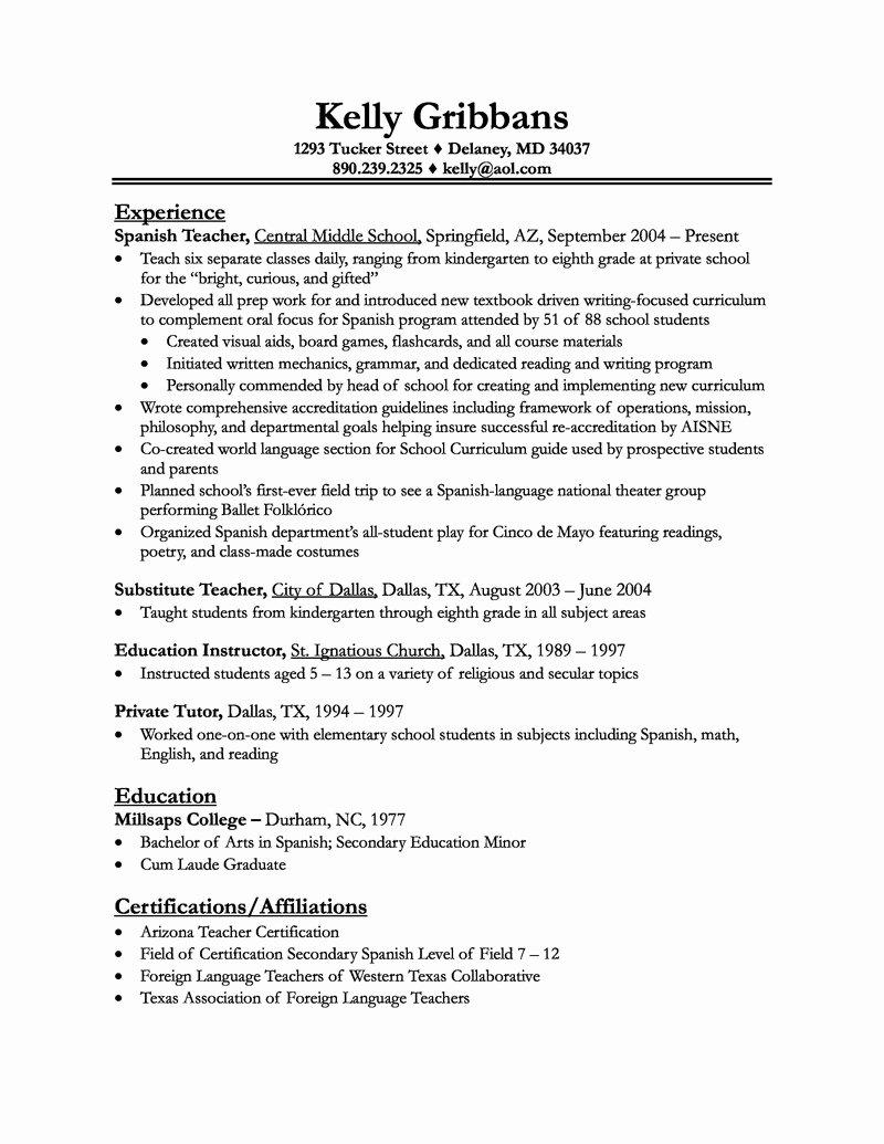 Preschool Teacher Aide Resume Examples – Perfect Resume format