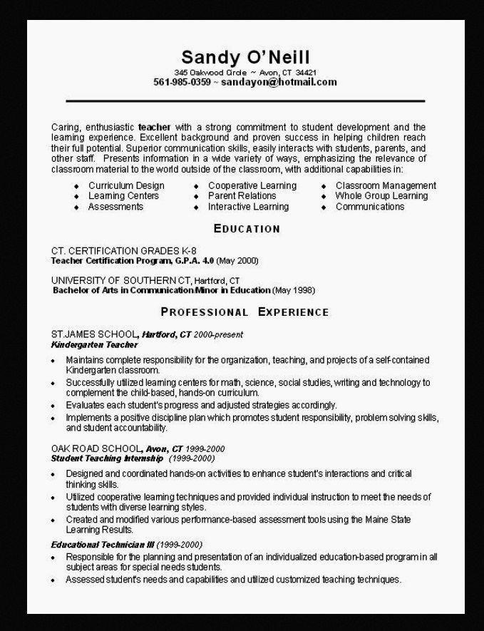 Preschool Teacher Resume Objective Best Resume Collection