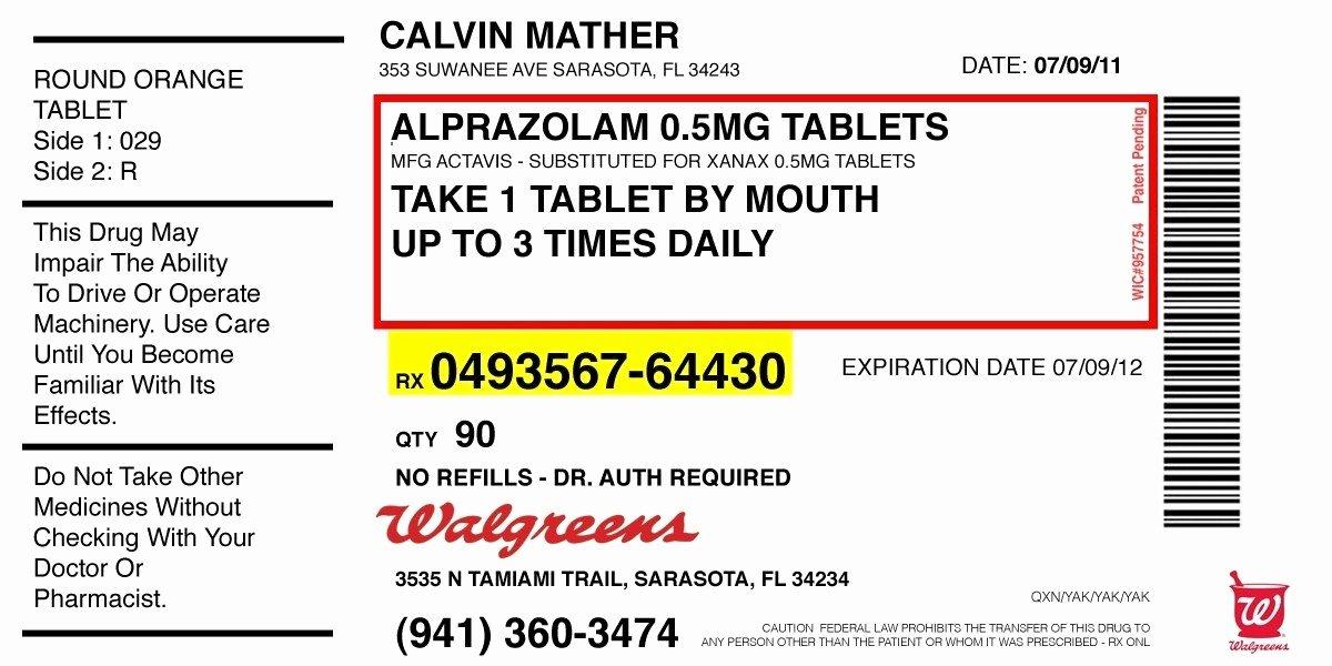 Prescription Label Template Invitation Template