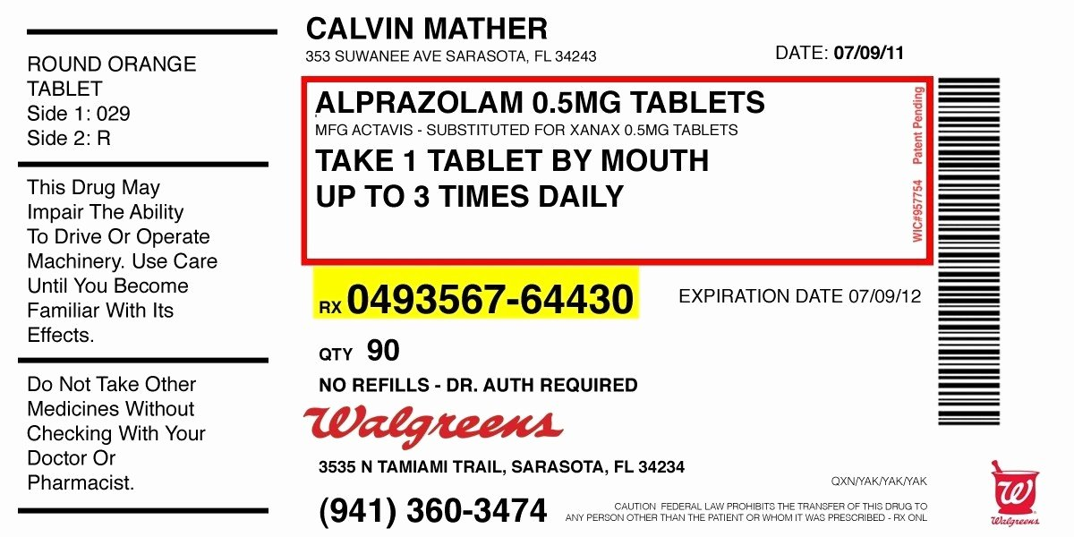 Prescription Label Template Invitation Template