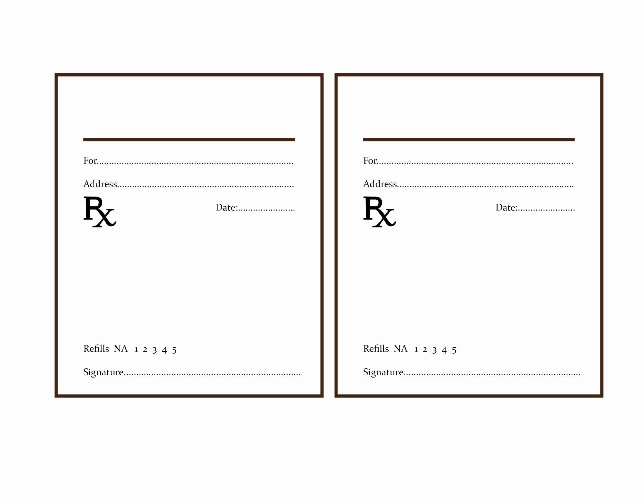Prescription Template Free Download Freemium Templates