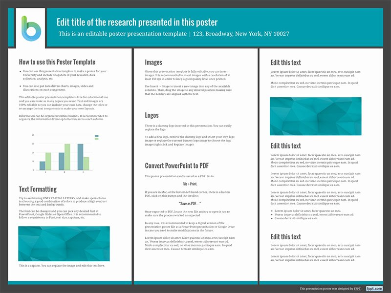 Presentation Poster Templates Free Powerpoint Templates