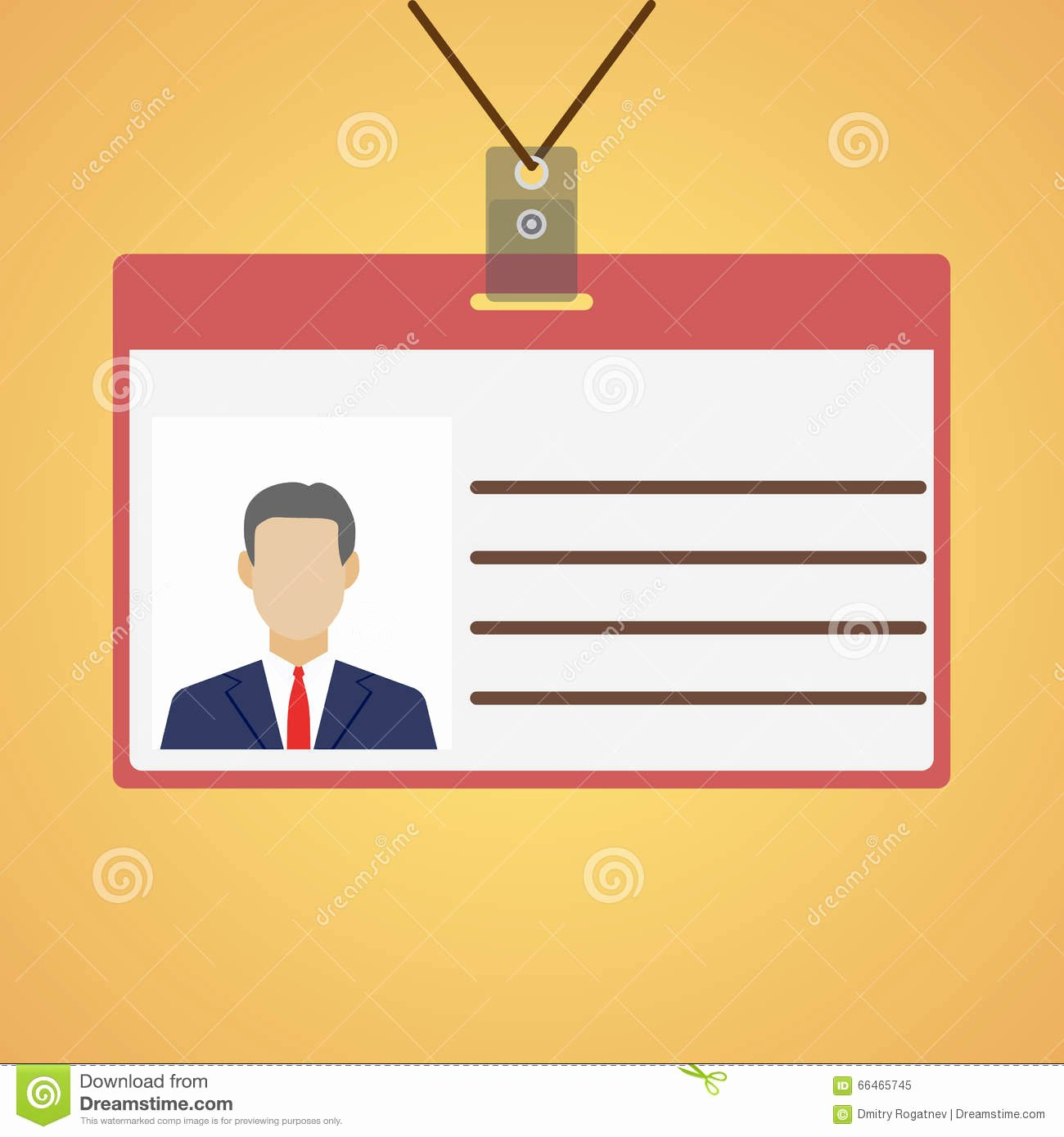 Press Pass Tag Illustration Design Royalty Free Cartoon