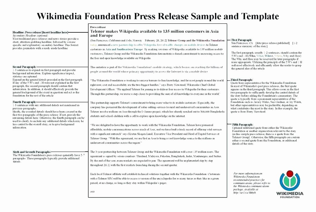 Press Release format Word Pdf Press Release Template