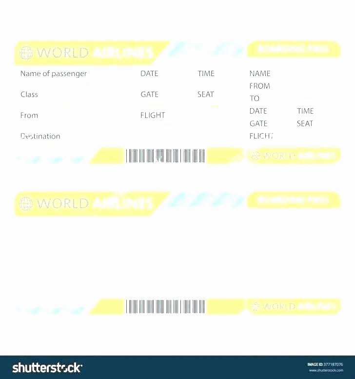 Pretend Plane Ticket Template Invoice Samples Airline