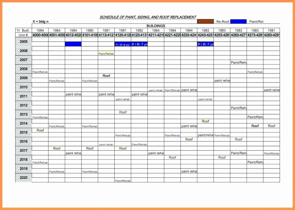 Preventive Maintenance Template Excel Download Elegant
