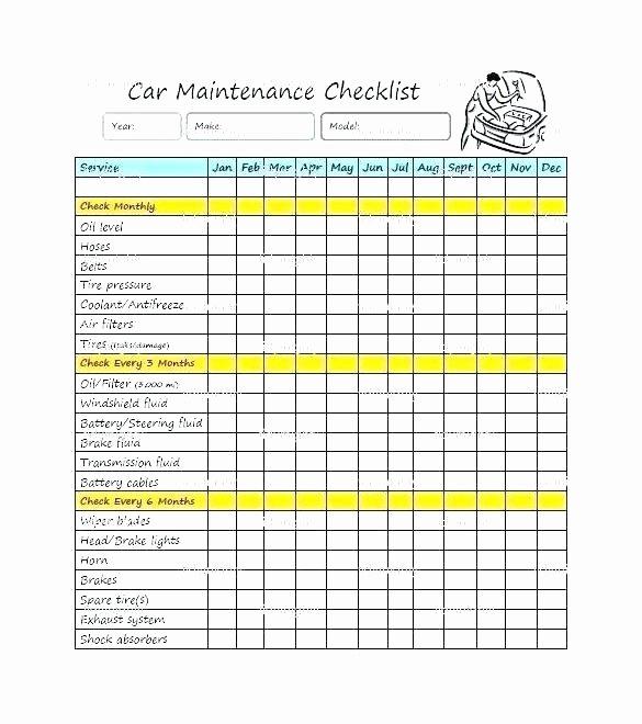 Preventive Maintenance Template Excel Preventive