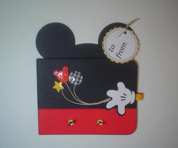 Prh07 Disney Magic Mickey Gift Card Holder Template Svg