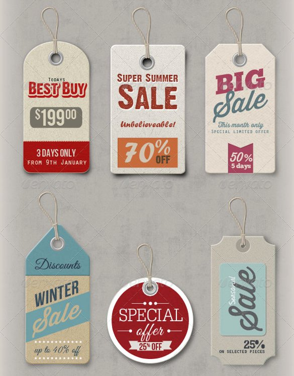Price Tag Template – 24 Free Printable Vector Eps Psd