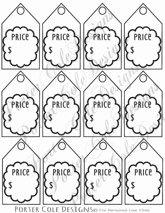 Price Tags Printable Digital File