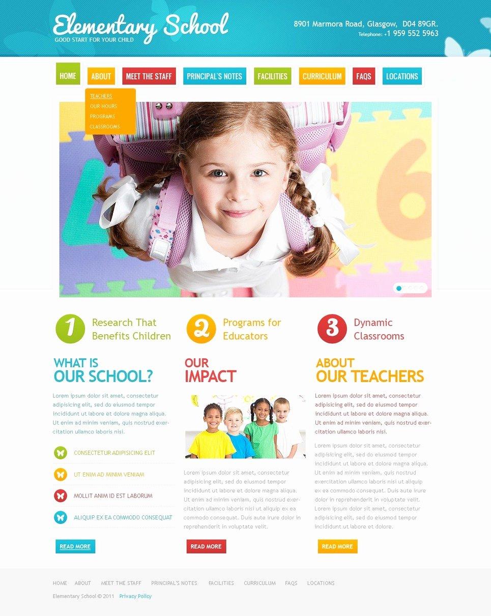 Primary School Website Template