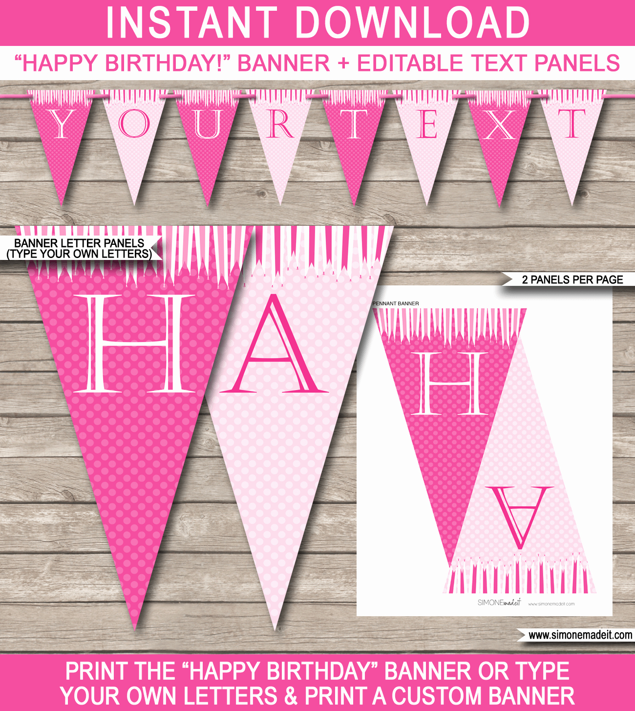 Princess Party Banner Template