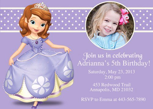Princess sofia Birthday Invitations Ideas – Free Printable