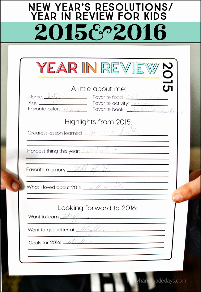 Printable 2015 Year In Review – [ E Velvet Morning ]