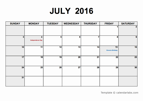 Printable 2016 Calendar Search Results