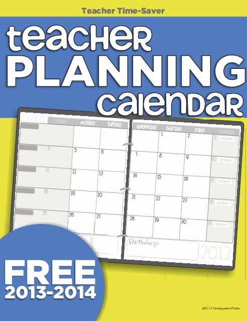 Printable 2017 2018 Teacher Planning Calendar Template