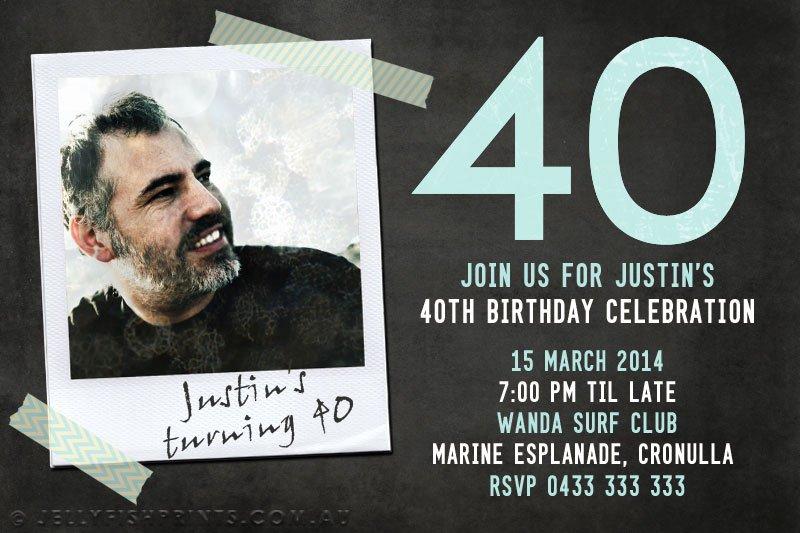 Printable 40th Birthday Invitations Jellyfish Prints