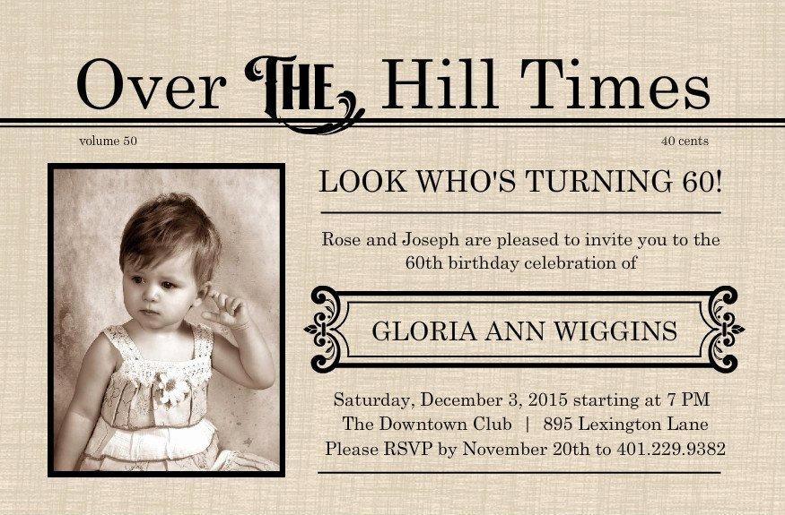 Printable 60th Birthday Invitation Templates