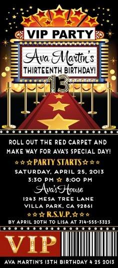 Printable Academy Awards Oscars Hollywood Party