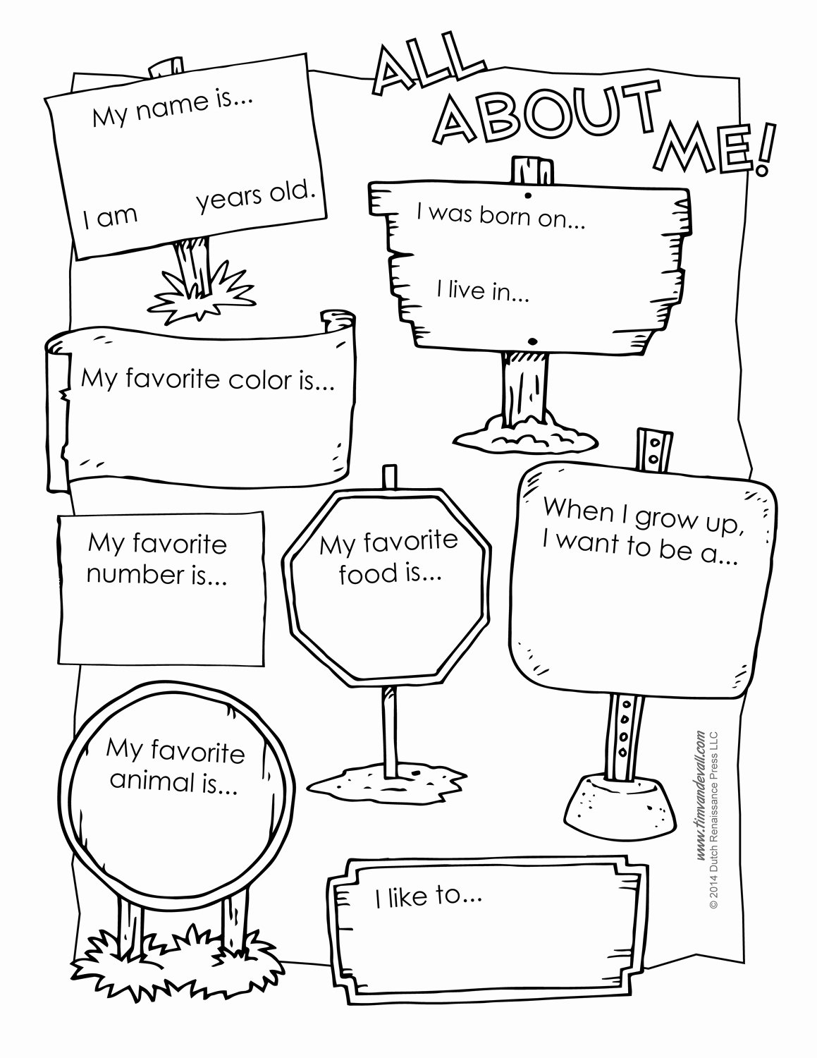 Printable All About Me Poster & All About Me Template Pdf
