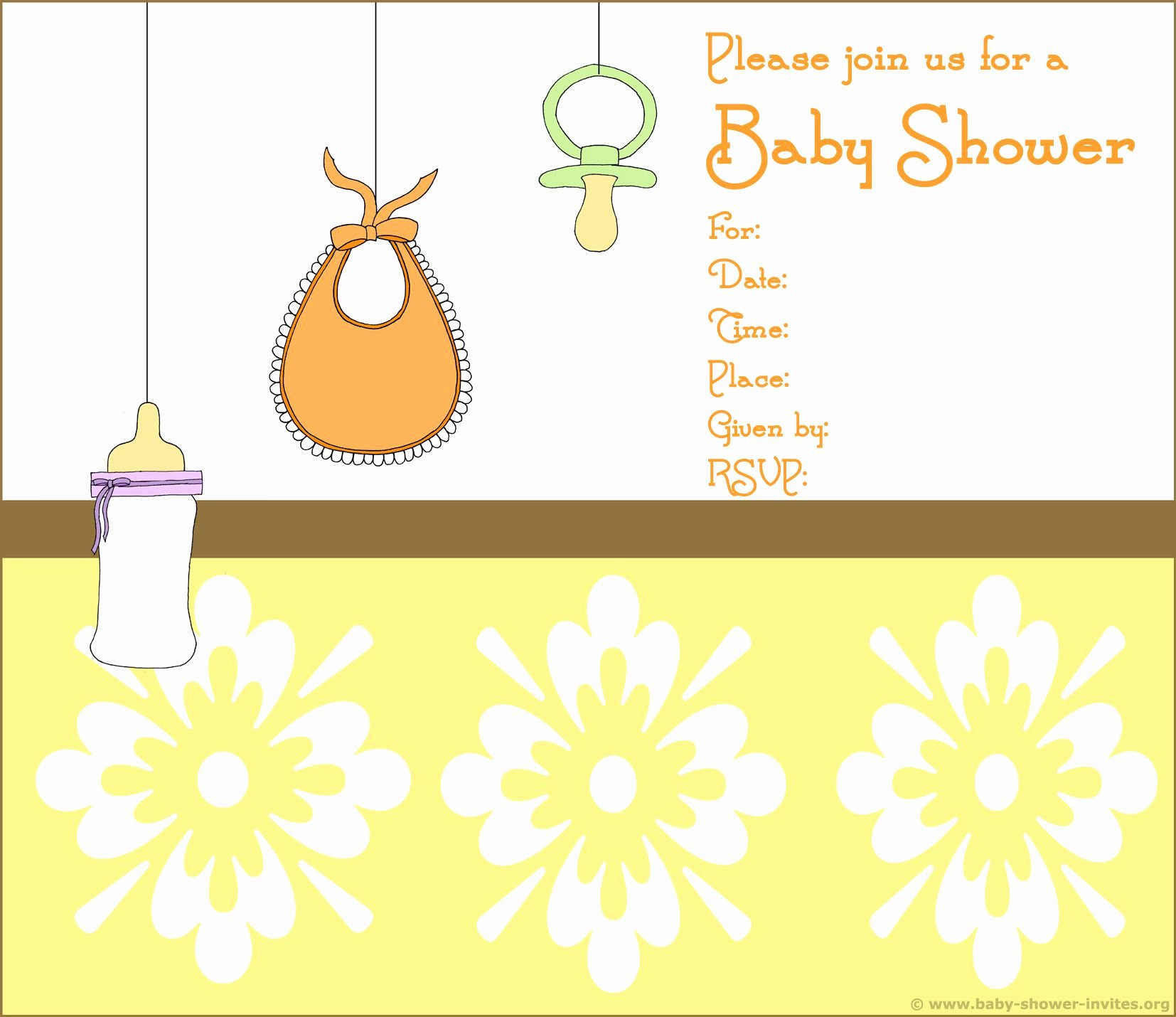 Printable Baby Shower Invitations Free Printable Bee