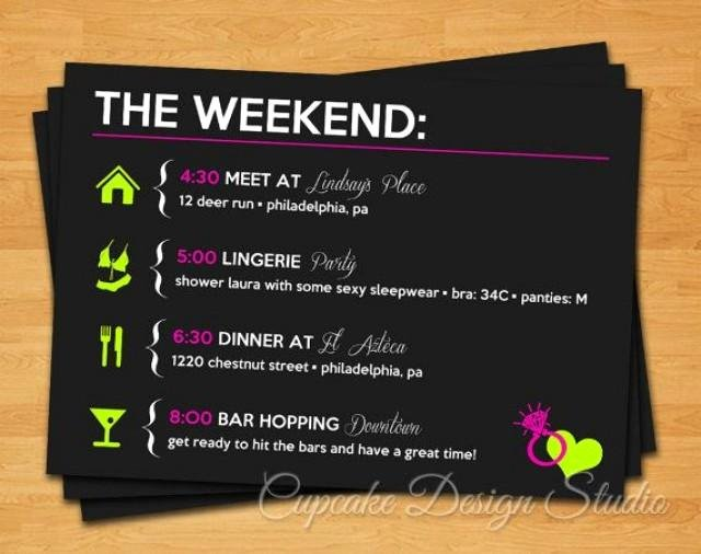 Printable Bachelorette Party Itinerary Lucky In Love