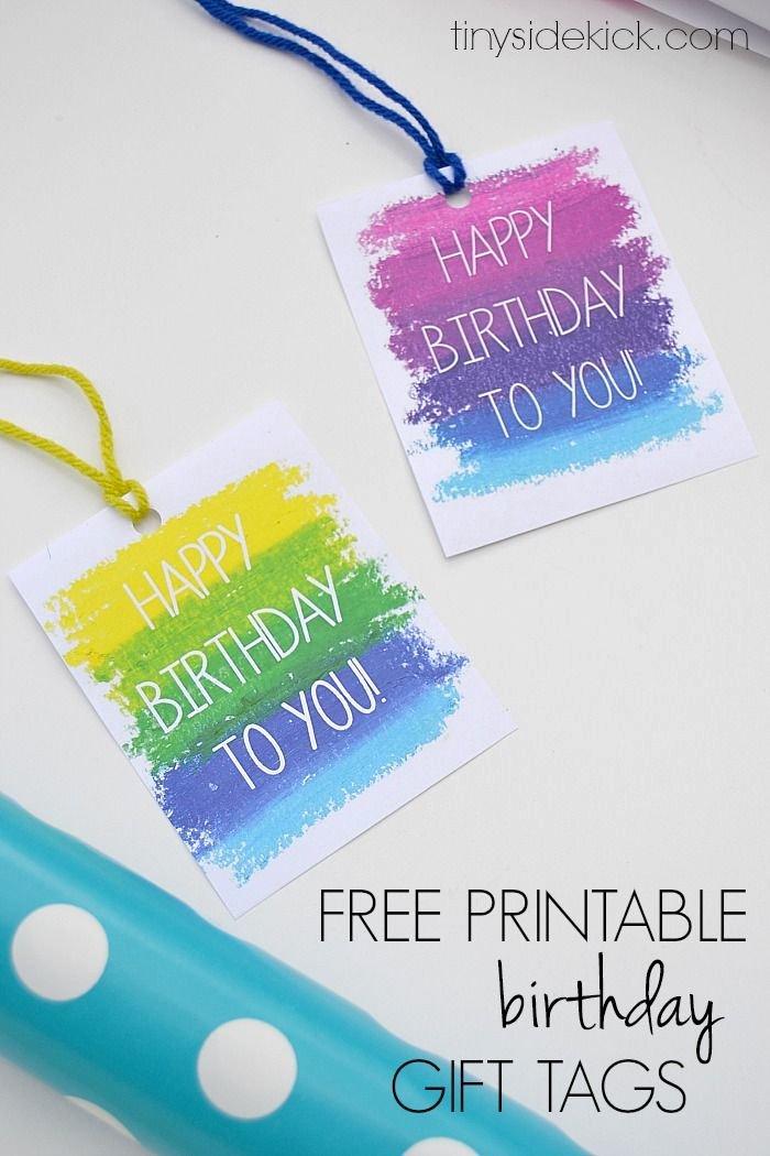 Printable Birthday Gift Tags Templates – Christmas Fun Zone