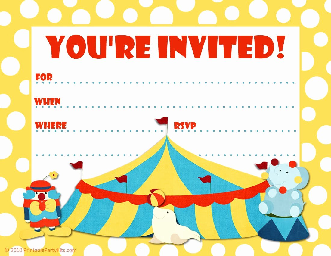 Printable Birthday Party Invitations – Bagvania Free