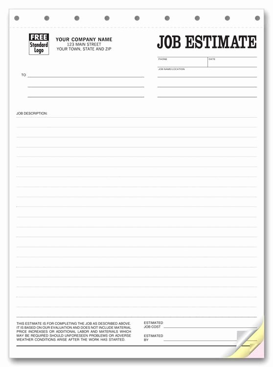 Printable Blank Bid Proposal forms