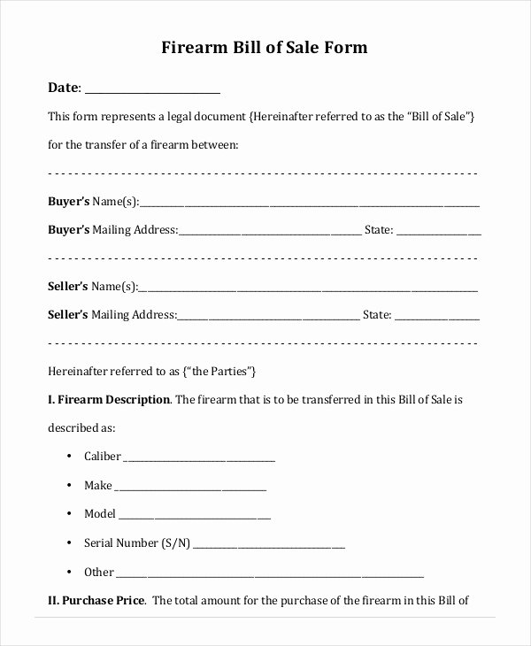 Printable Blank Bill Of Sale Template 9 Free Word Pdf