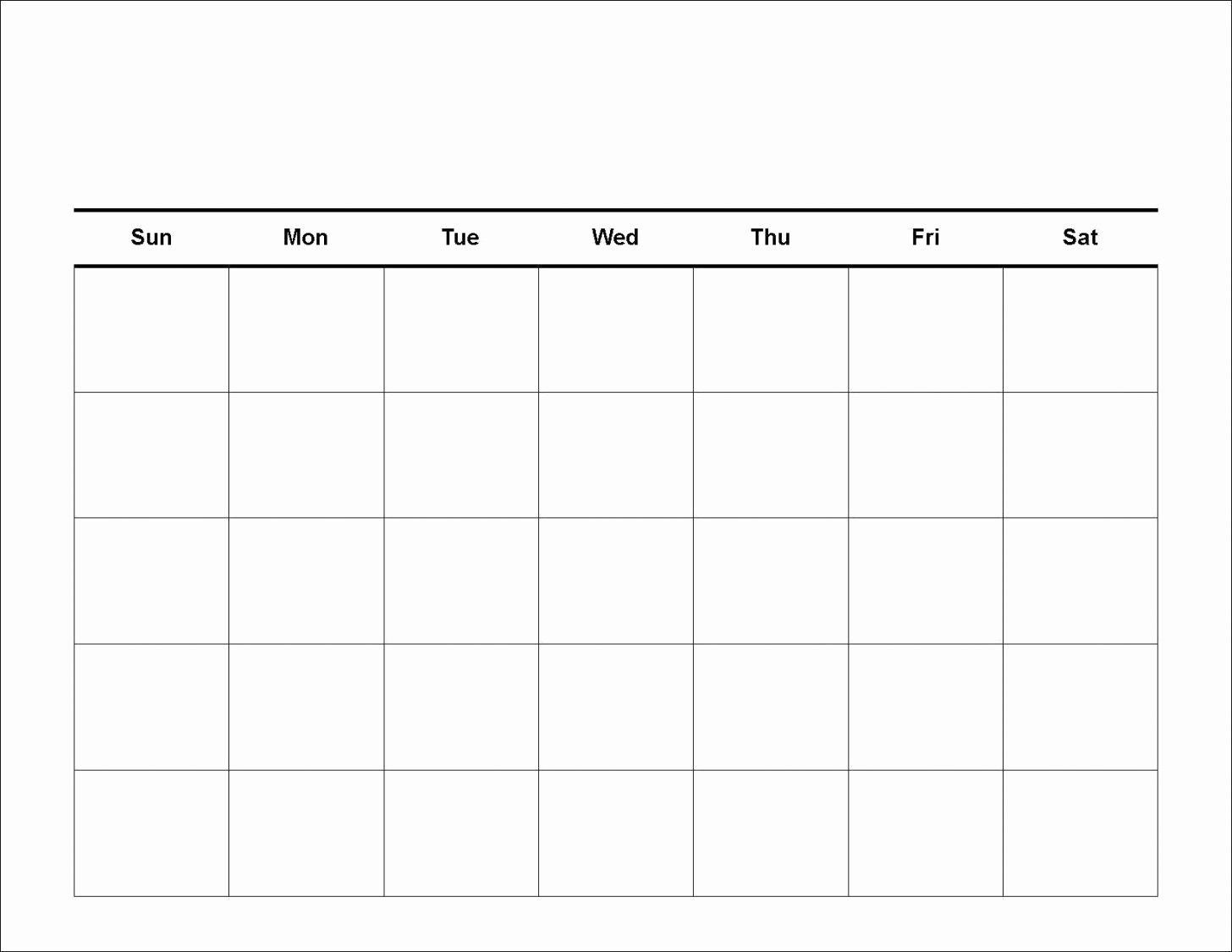 Printable Blank Calendar Template Monthly Word Pdf
