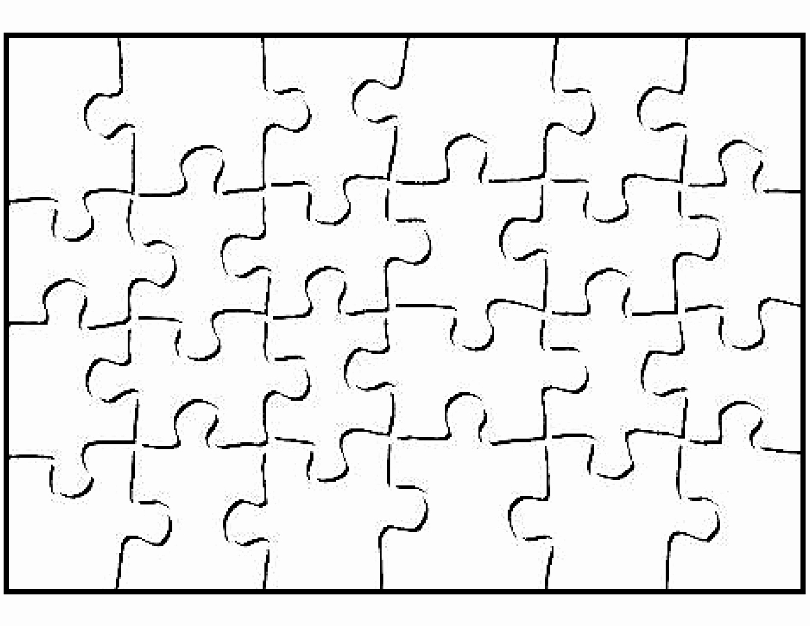 Printable Blank Puzzle Piece Template School