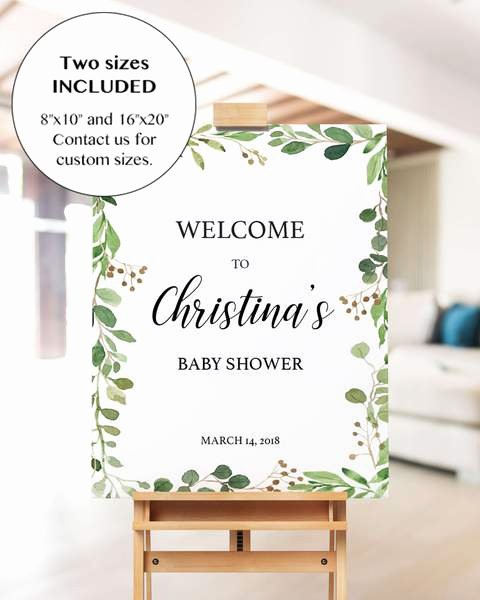 Printable Boho Baby Shower Wel E Sign Template
