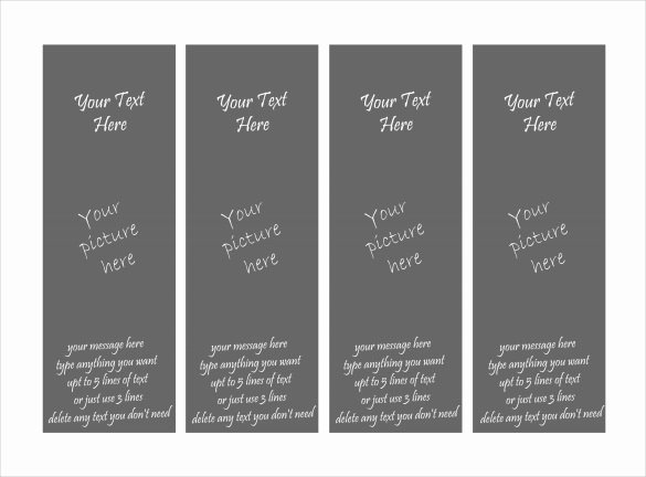 Printable Bookmark Template Pdf Printable Pages
