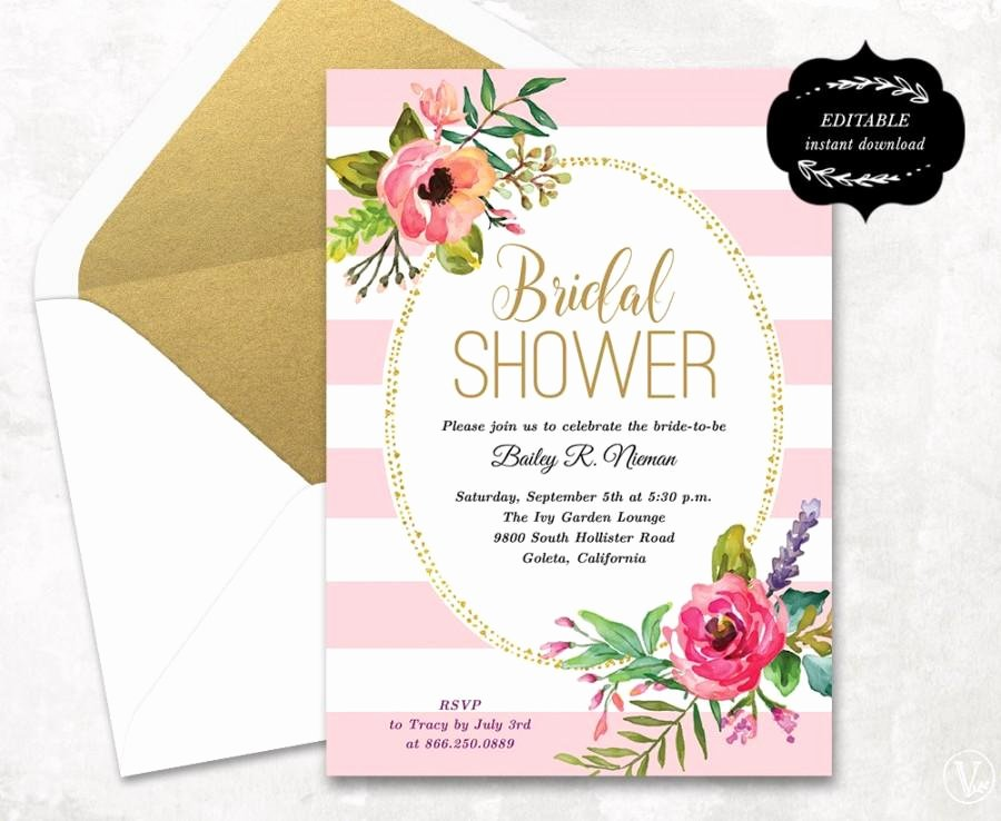printable bridal shower invitations templates