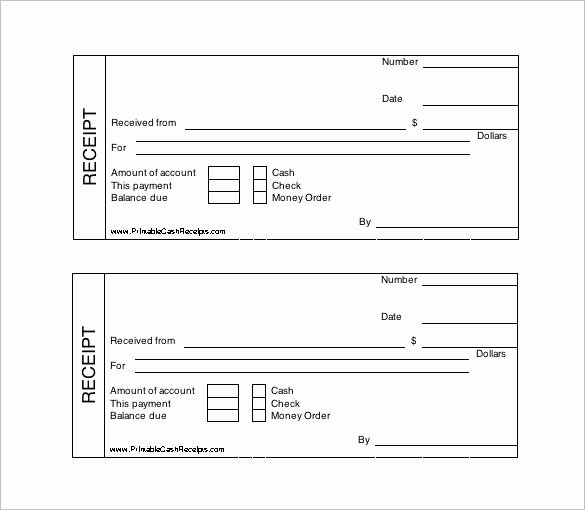 Printable Cash Receipt Template Free Receipt Template