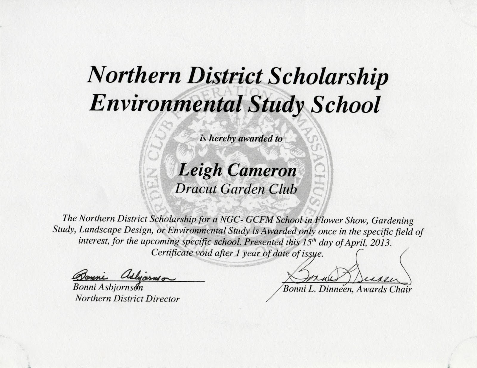Printable Certificate Of Scholarship Award