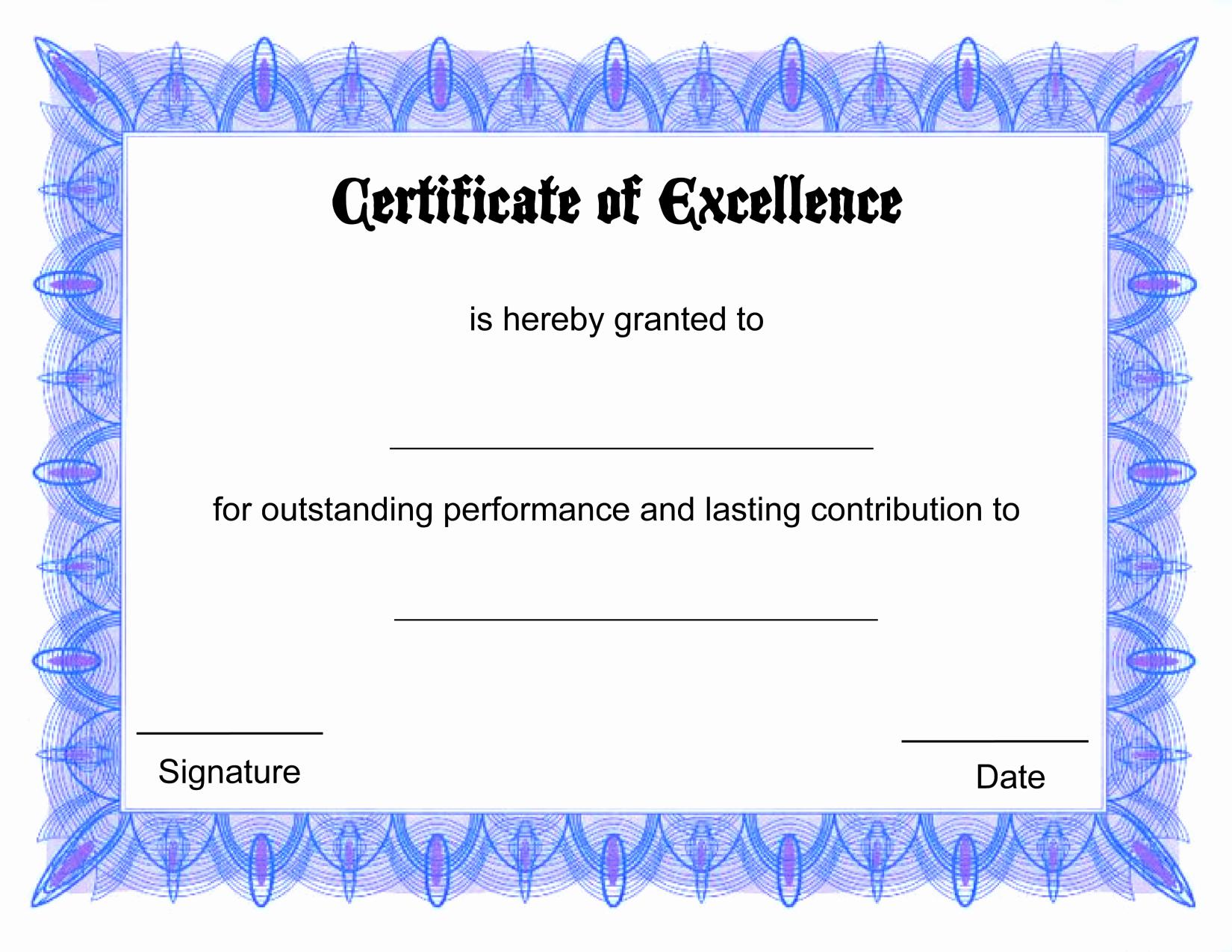 Printable Certificate Templates