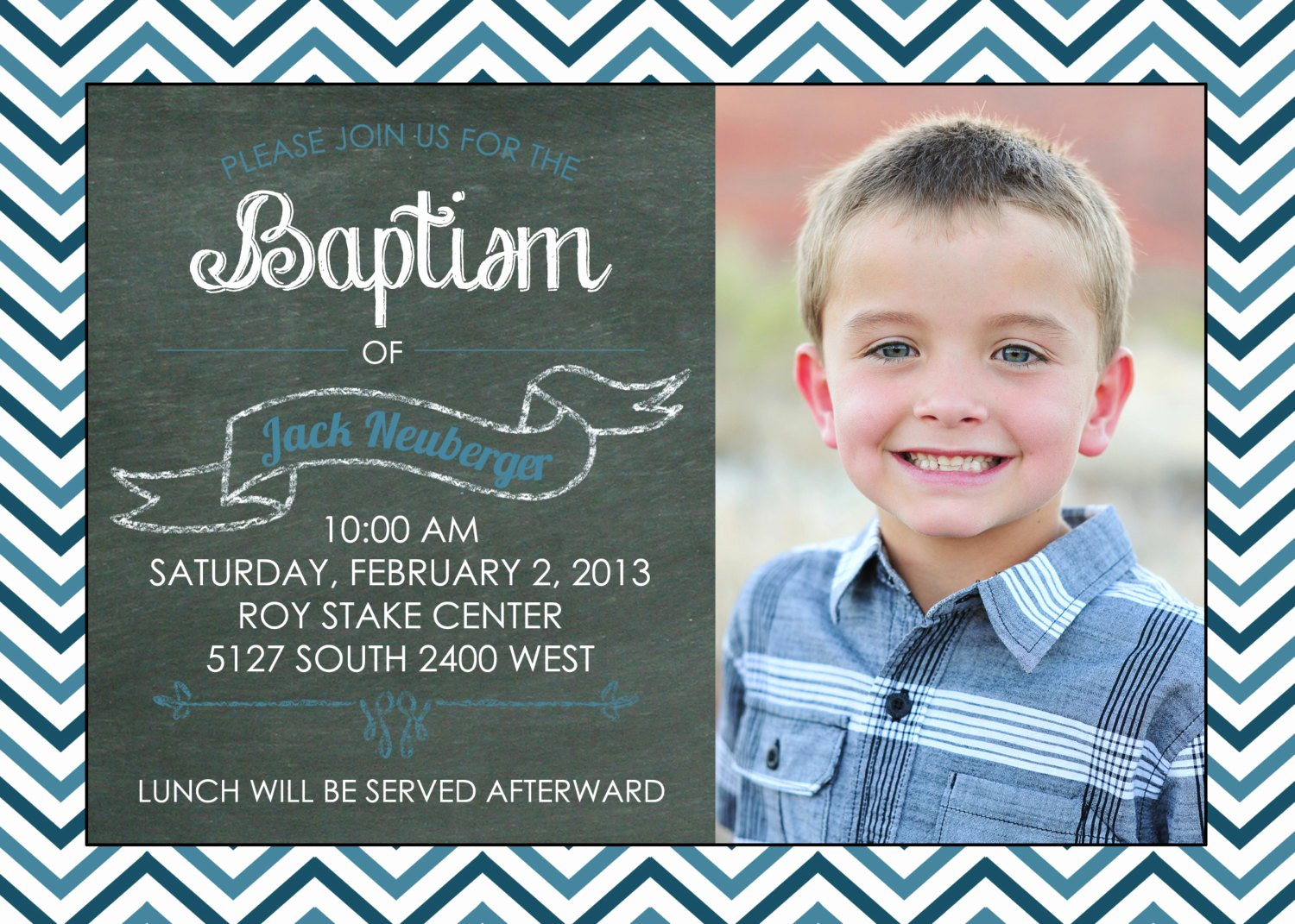 Printable Chalkboard Baptism Invitation Great Free Lds