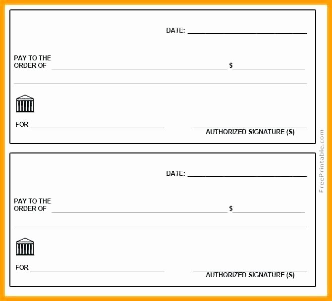 Printable Check Template Free Printable Checks Template