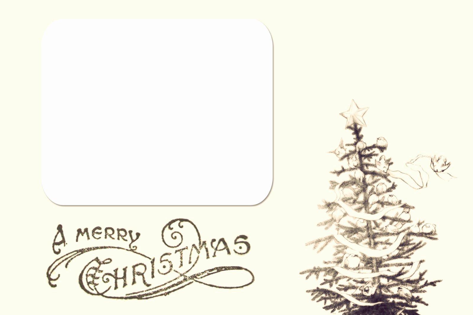 Printable Christmas Card Templates – Happy Holidays